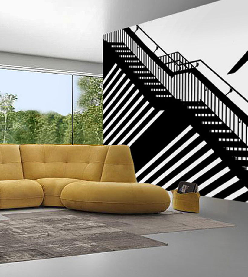 parete scala soggiorno